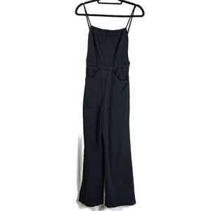 Reformation Anderson Square Black Jumpsuit Pockets